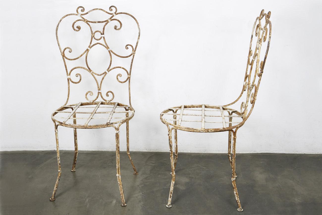 il tavolo verde sillas de jard n de hierro