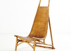 Butaca en bamboo y rattan