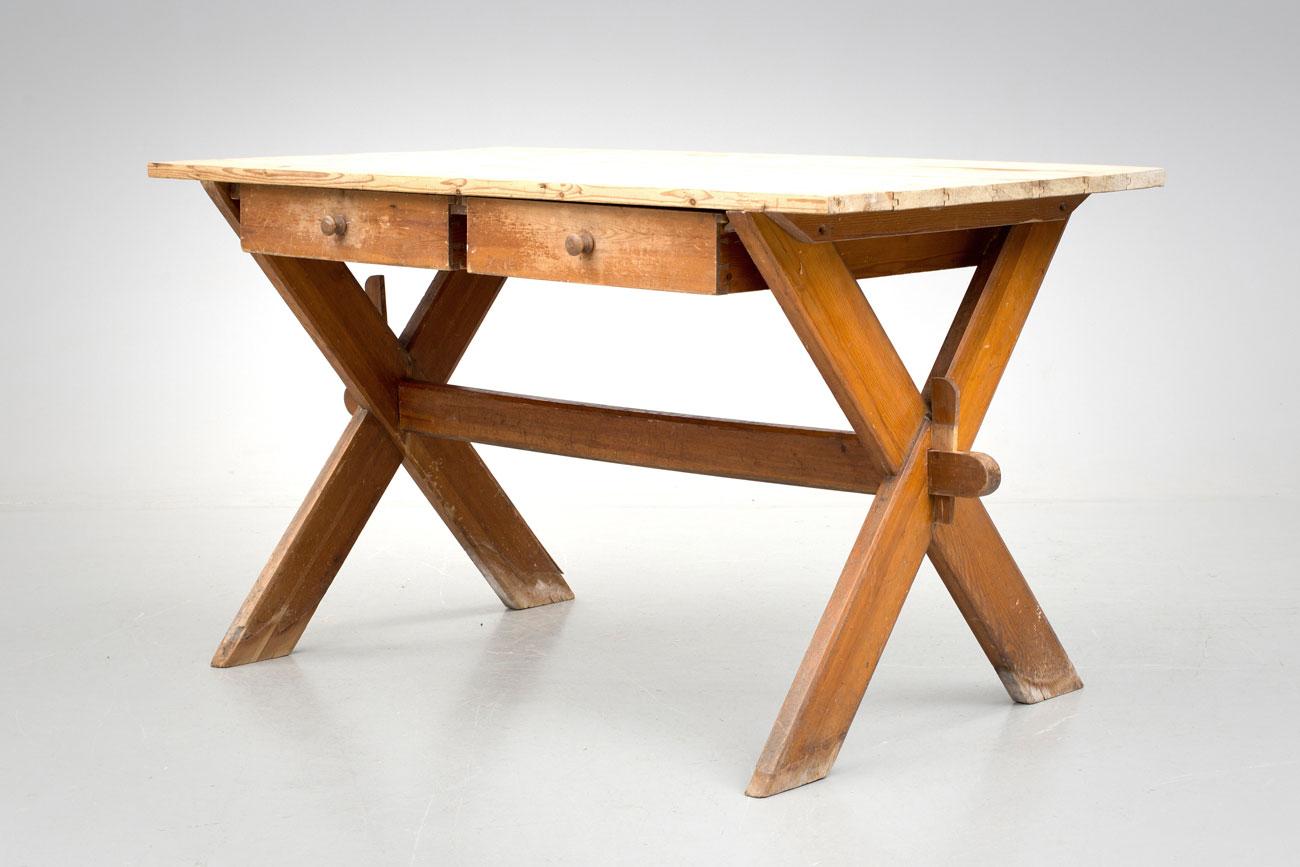 Il tavolo verde mesa de caballete con cajones - Mesa con caballetes ...