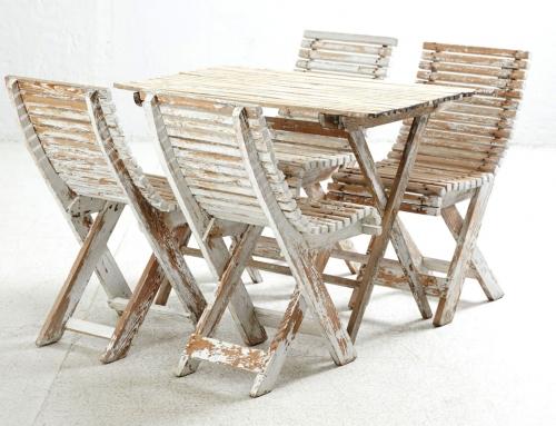 Conjunto de mesa y sillas de jardín