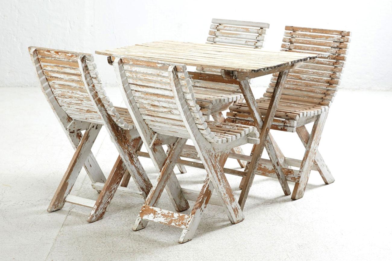 Il tavolo verde conjunto de mesa y sillas de jard n for Ofertas mesas y sillas de jardin