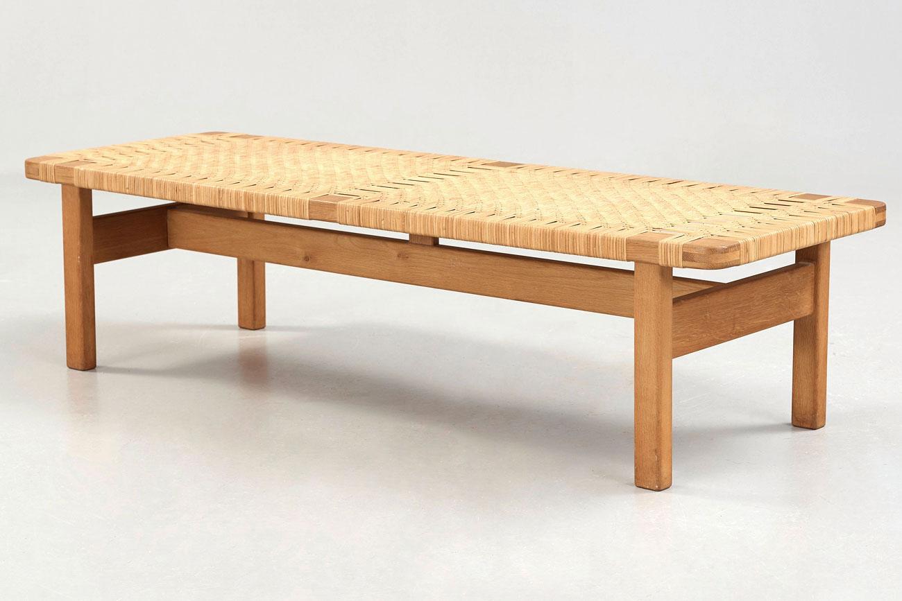 Banco o mesa baja de Borge Mogensen