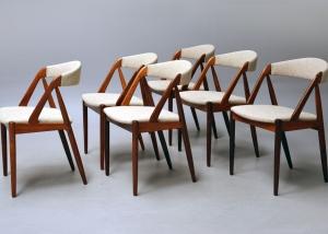 Sillas en madera de palisandro de Kai Kristiansen