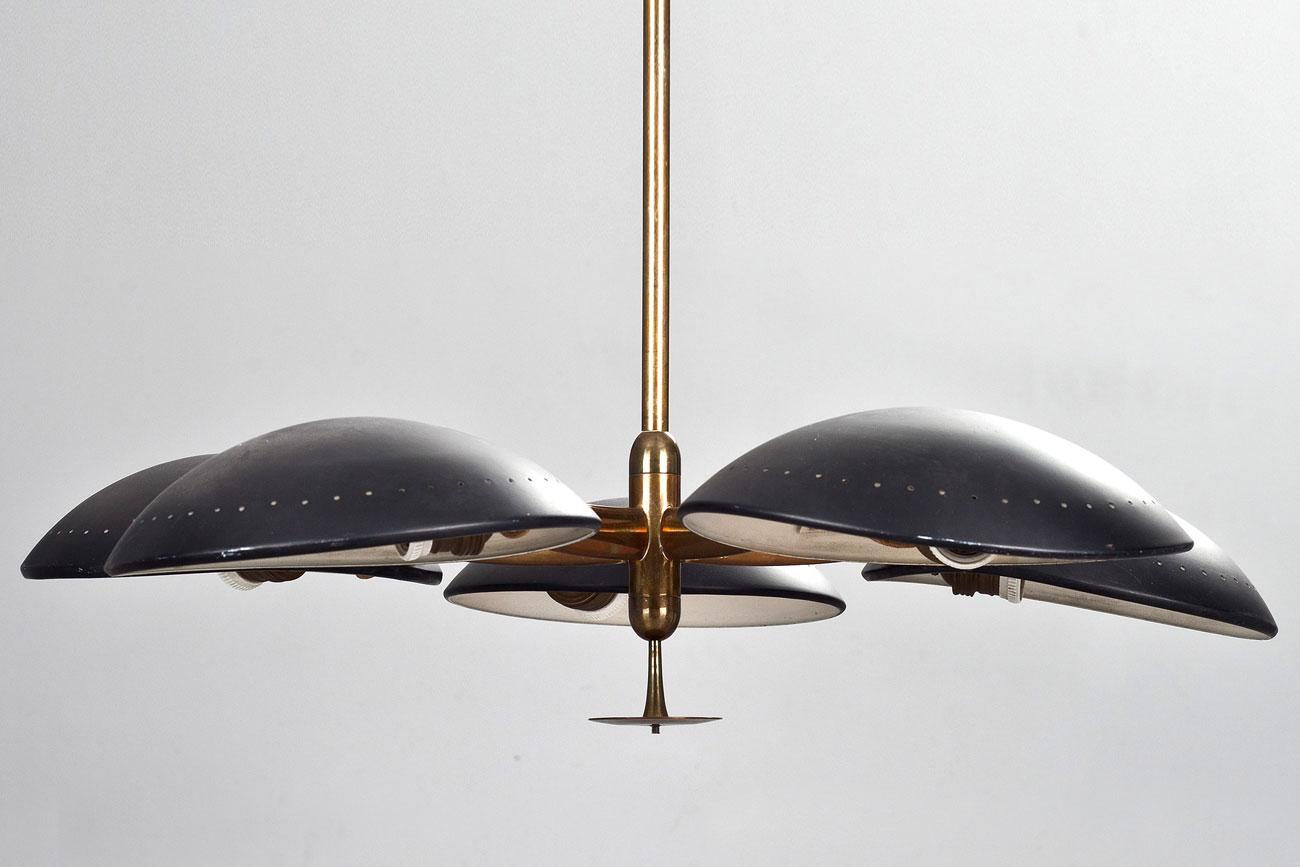 Lámpara colgante de Stilnovo, Italia 1950
